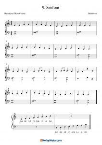 9. Senfoni Piyano Notası