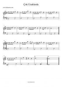 Caddlerde Rüzgar - Kolay Piyano Notası