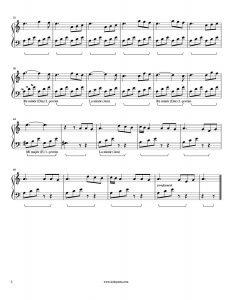 Kol Düğmeleri - Piyano Notası