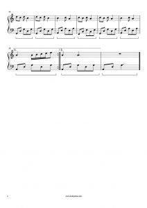 Ne Ağlarsın Benim Zülfü Siyahım Piyano Notası