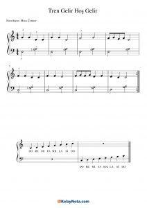 Tren Gelir Hoş Gelir Piyano Notası