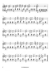 Onuncu Yıl Marşı - Piyano Notası