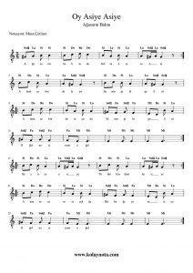Oy Asiye Asiye - Kolay Notası