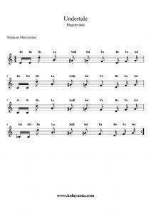 Undertale - Megalovania - Kolay Notası